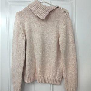 Chaps XL rose women's cowl neck sweater